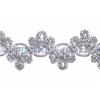 Metallic Trim - Double Crown 25mm Silver Hologram